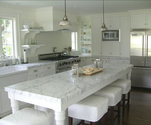 Our Dream Carrara Marble Kitchens | Pumpernickel & Rye
