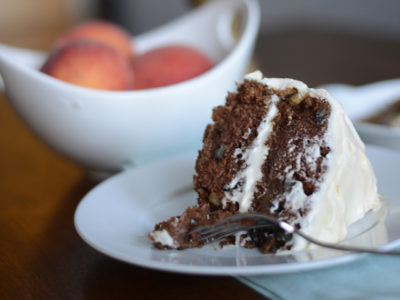 Peach Tea Spice Cake with Cream Cheese Frosting
