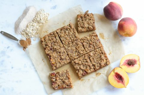 Peach Graham Crumble Bar