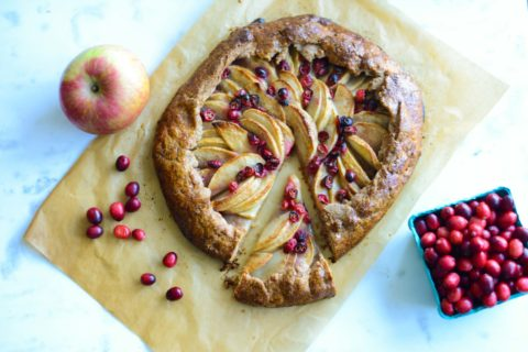 Apple Cranberry Galette with Graham Flour Pastry Crust